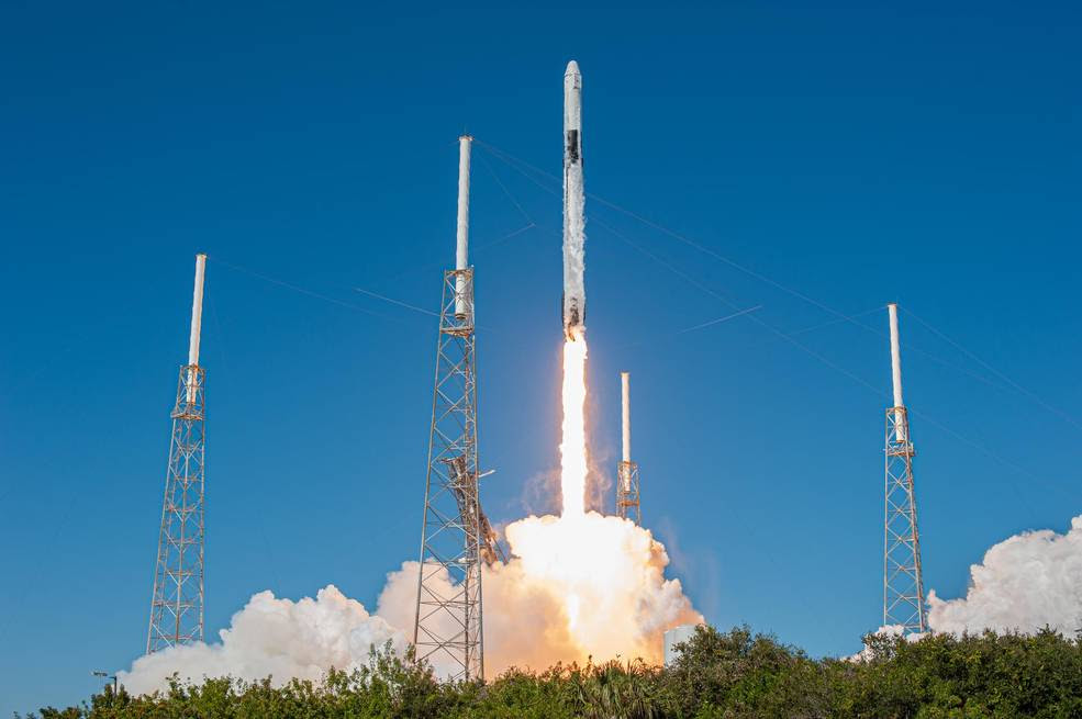 A SpaceX Falcon 9 rocket lifts off from Space Launch Complex 40 at Cape Canaveral Air Force Station in Florida at 12:29 p.m. EST on Dec. 5, 2019, carrying the Dragon spacecraft on the company's 19th Commercial Resupply Services mission to the International Space Station.<br />Credits: NASA/Tony Gray, Tim Terry and Kevin O'Connell