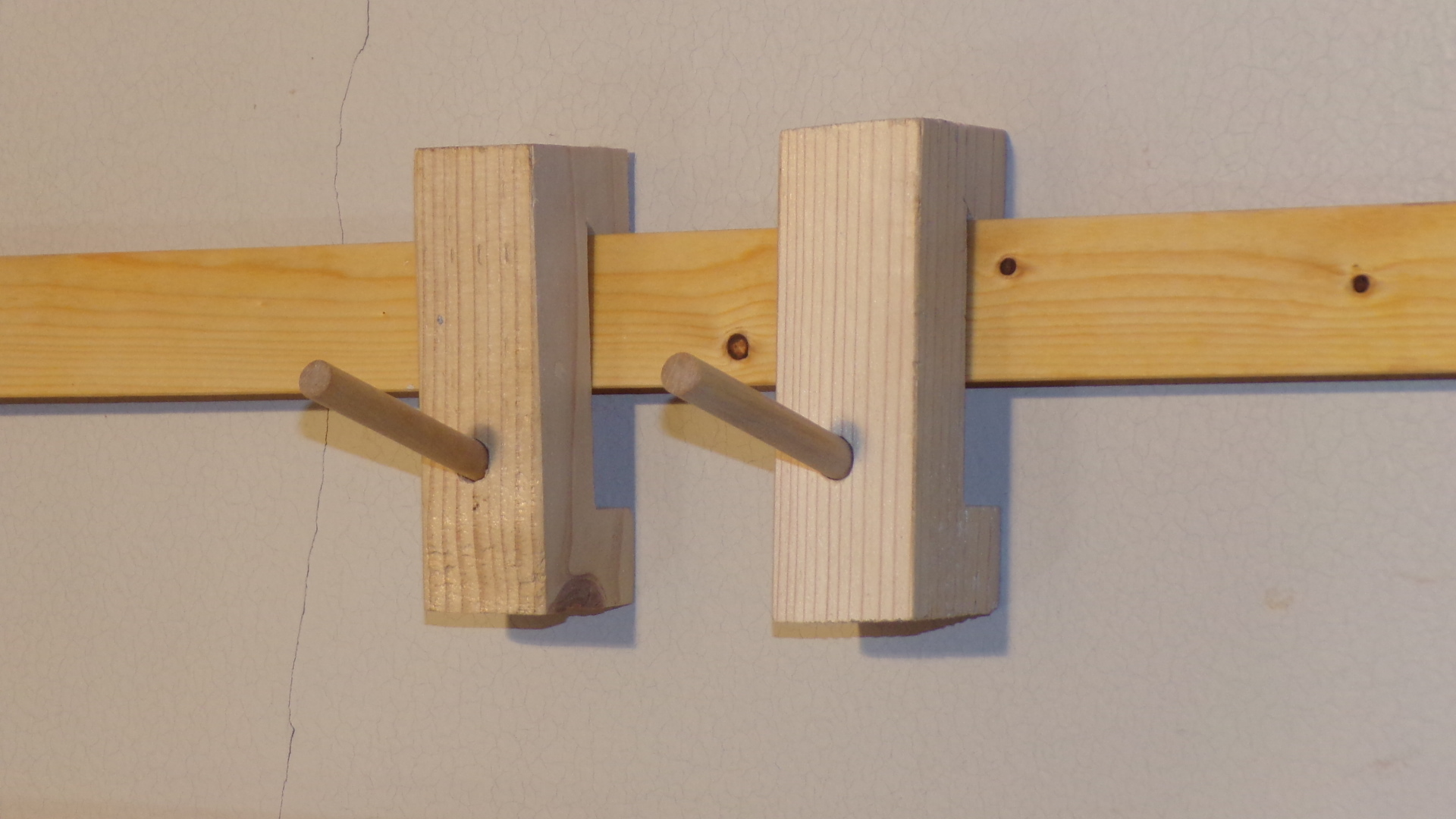 Unfinished french cleat rocket hooks