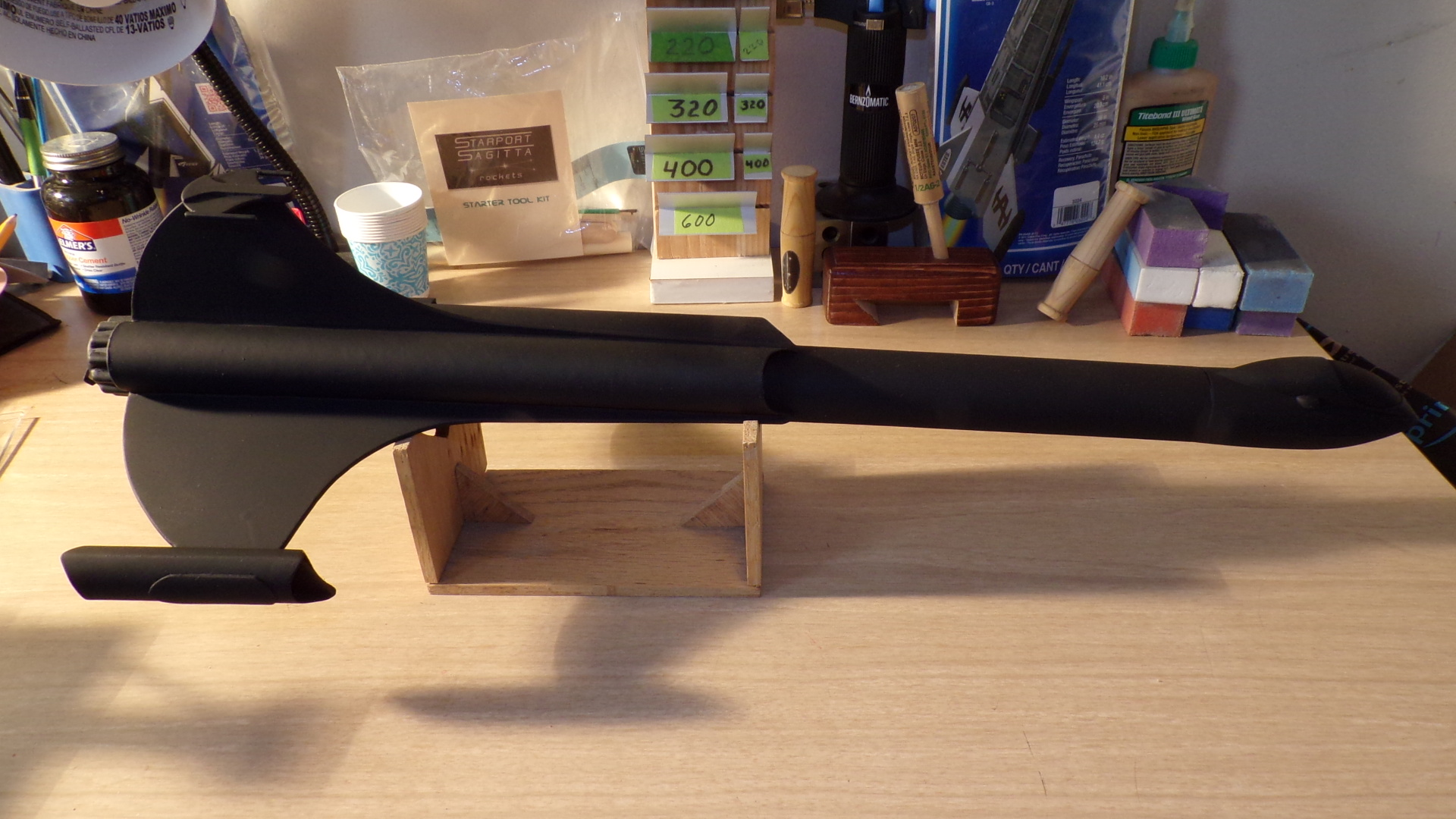 Xarconian Cruiser in black primer.JPG